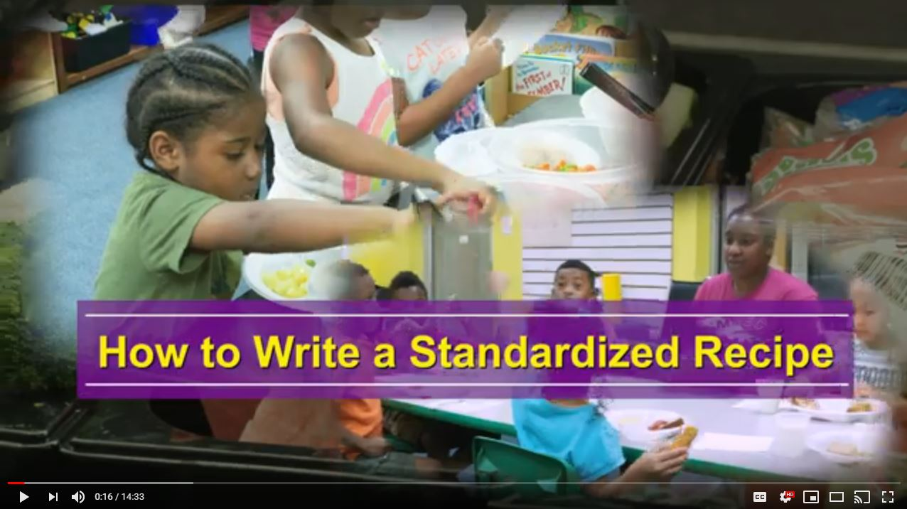 How to Write a Standardized Recipe
