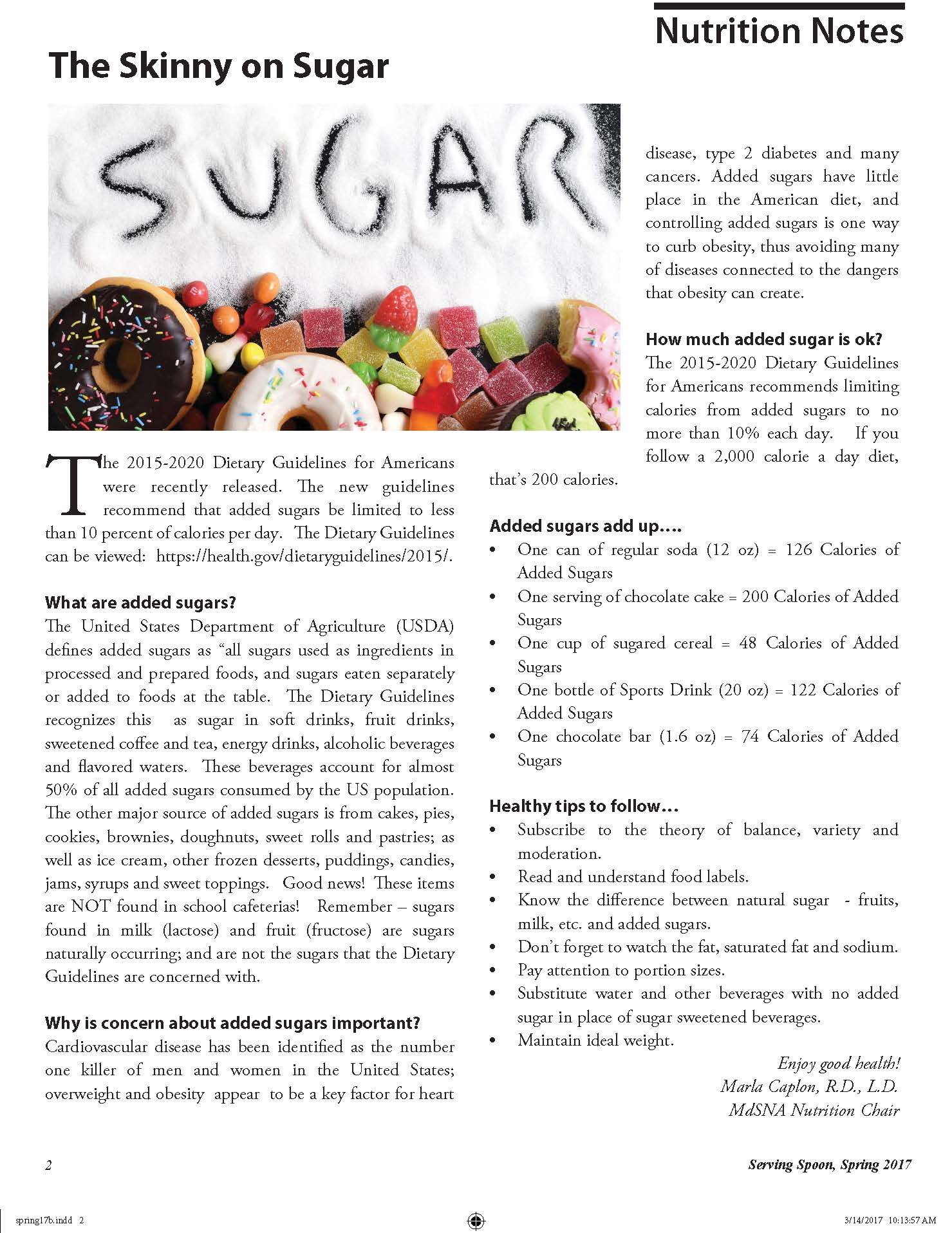 The Skinny on Sugar Article