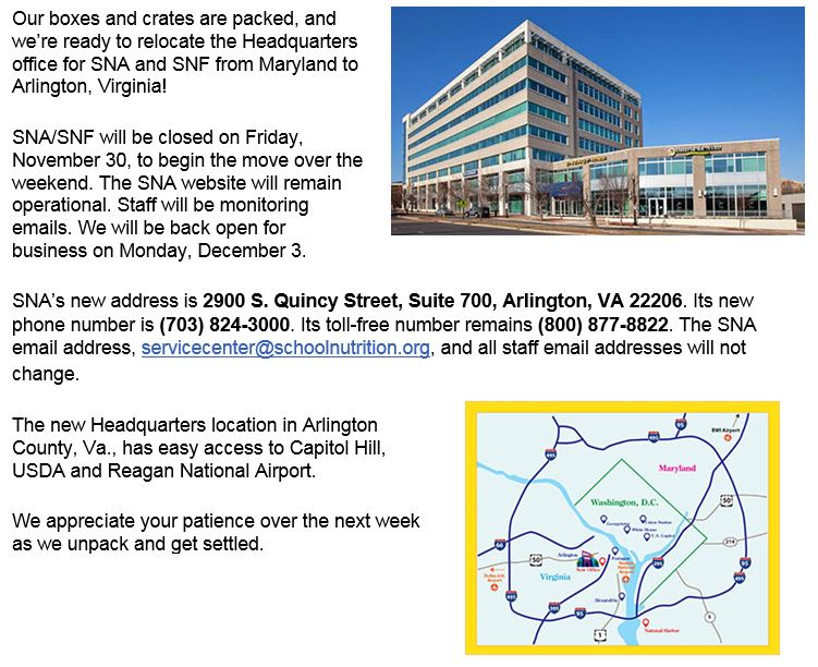SNA Headquarters Information