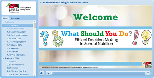 SNA's What Should You Do? Ethical Decision-Making in School Nutrition